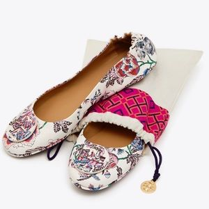 💐Tory Burch Minnie Travel Flats